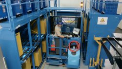 forklift battery changing system